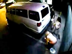 Security cam films public peeing of three girls
