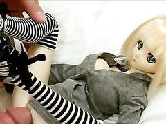 My buddy fucks miniature sex doll