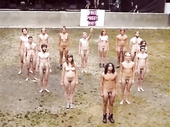 Young nudists pose for pics and dance