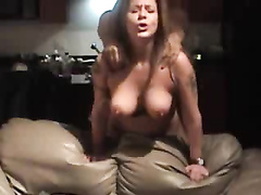 Banging my large-breasted wife doggystyle
