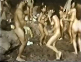 Naked Women Retro Dance