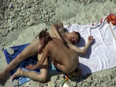 Arousing beach fuck video with a cumshot facial finish
