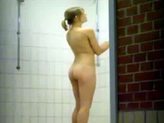 Tight young bodies on girls in voyeur shower footage