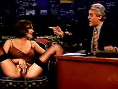 Celebrity fake of Alyssa Milano pissing on television