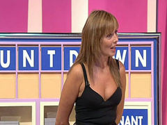 Sexy milf cleavage on a TV show