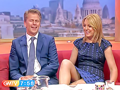 Real upskirt with a talk show host in a dress