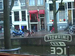Amsterdam prostitutes tease in the windows