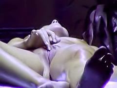 Sensual tanning bed masturbation in solarium