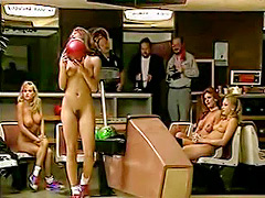 Nude bowling with sexy centerfold girls