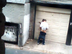 Street hooker filmed fucking in an alley