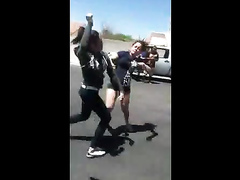 Girls' catfight caught on cam