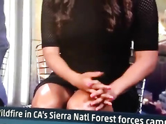 Morning show featuring her bare crotch!
