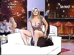 Delicious Italian ladies show off various sex poses live on television