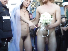 Crazy wedding spiced up with nudity