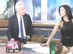 Gorgeous presenter on the LA television