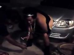 Chubby old Brazilian hooker takes a long piss