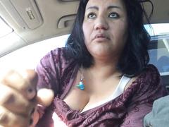 Ugly Latina prostitute gives a fascinating handjob