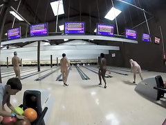 Naked people in the bowling session