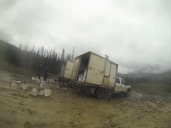 Desperate woman gets recorded pissing by a big truck