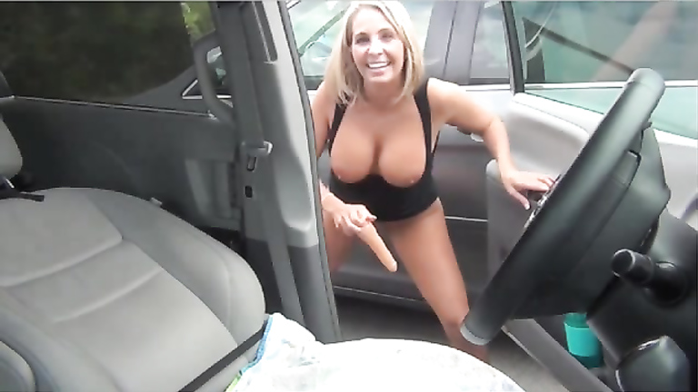 Girl Masturbate Parking Lot