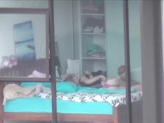 My most gracious neighbor lets her boyfriend jerk off on her tight body