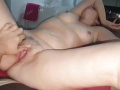 My sensual wife has her juicy vagina fingered and penetrated
