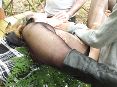 Mature dogger in black nylons gets her vagina plowed