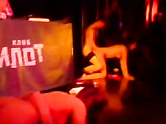 Slutty tarts get nailed hard onstage in the Russian night club
