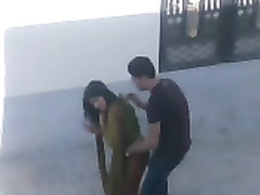 Spying on an Indian couple having a quickie between some buildings
