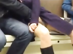 Hidden sex in the subway