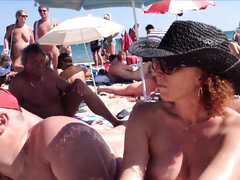Cap d'Agde nude beach voyeur's point of view