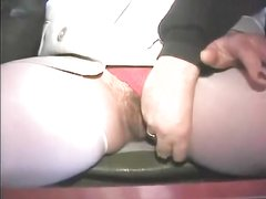 Fingering the wet mature pussy