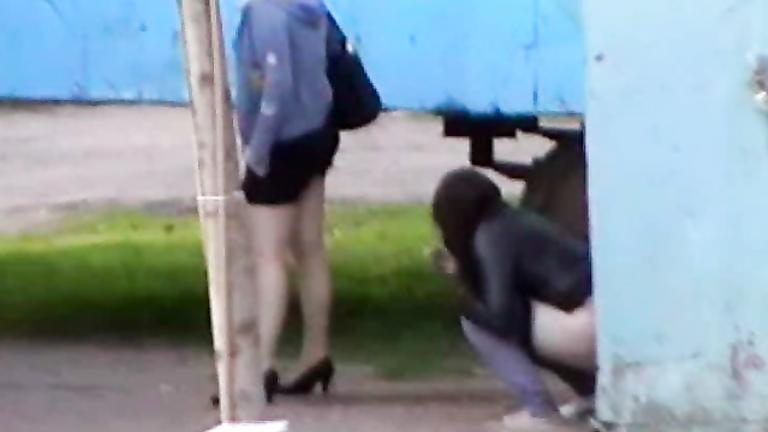 Prostitutes pissing in public porn images
