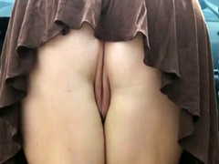 Outdoor upskirt pussy tease with some hot fucking