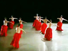 Beautiful ballet with gorgeous topless women