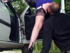 Dogging milf takes cumshots from random strangers