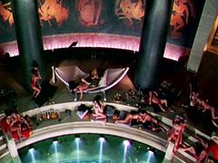 Sensual orgy scene from the Titus movie