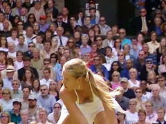 Maria Sharapova's downblouse with a nipple slip