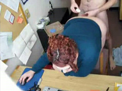 Chubby secretary gets anally penetrated by her boss in the office