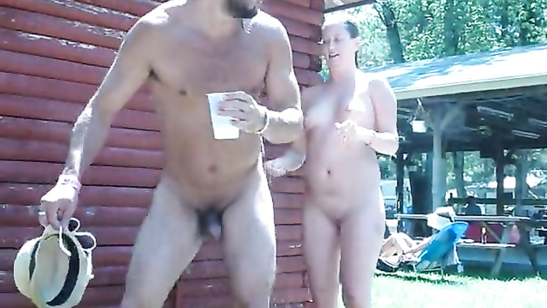 Puplic nude camp shower