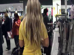German lovers having sex caught on tape in store changing room