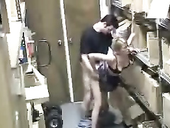 Sex at work caught on security camera