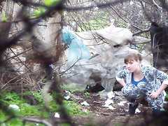 Ukrainian amateur filmed urinating in the trees