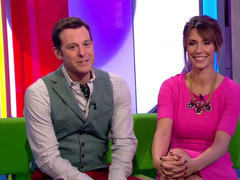 British morning show host in fashionable dress