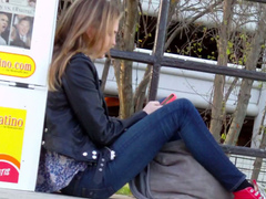 Candid cigarette smoking video with an attractive girl