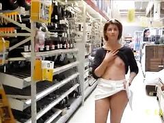 Wife flashing titties in the hardware store