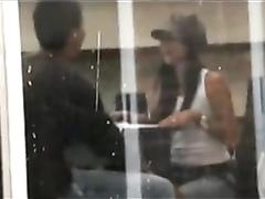 Amateur couple filmed copulating through the windows