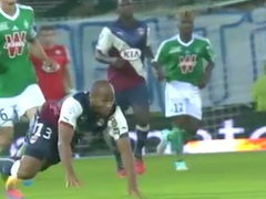 Soccer star exposes his penis on the field
