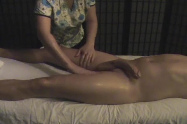 Erotic Massage Ends With A Handjob For The Big Cock Voyeurstyle Com