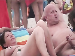Beach cocksucking mix with amateur ladies